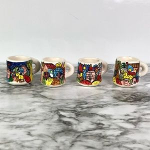 Made in Mexico Dining - Set of 4 Cups or Shot Glasses Made in Mexico